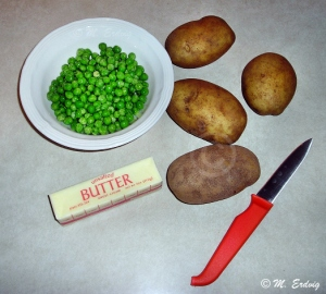 Peas, Potatoes, Butter