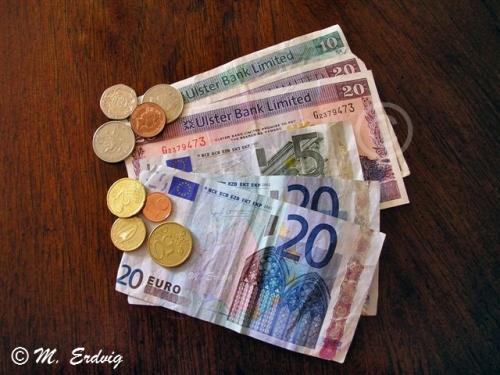 Ireland Euros and Pounds