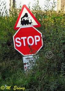 Train Stop Sign