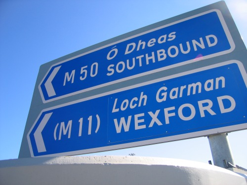 M50_access_ramp_sign wickipedia commons
